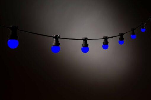blauwe prikkabel led lampen
