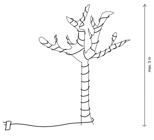 boom in tuin verlichten