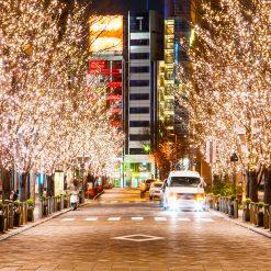 boomverlichting kerst winkelstraat