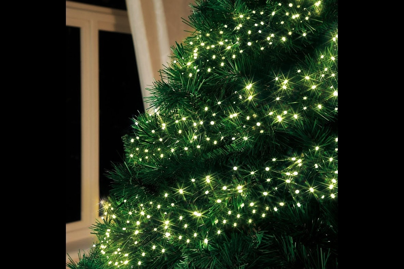 Clusterverlichting kerstboom • Transparant snoer • 1120 LED lampjes