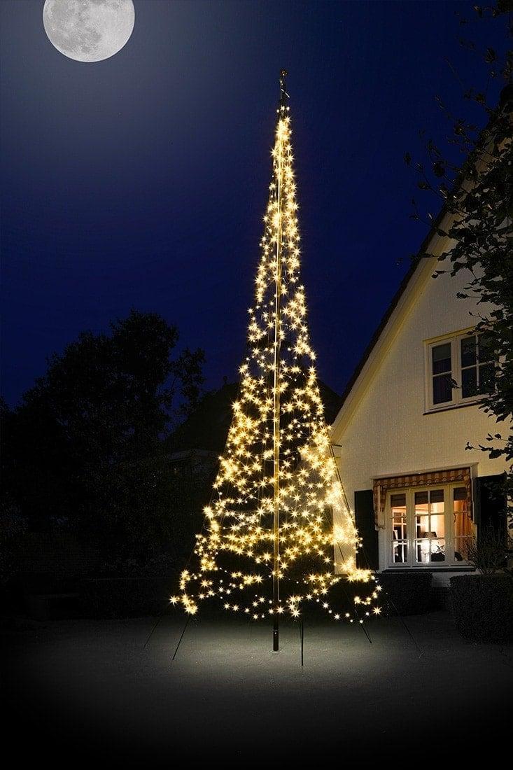 Vlaggenmast kerstboom • Fairybell 6 meter » 600 lampjes