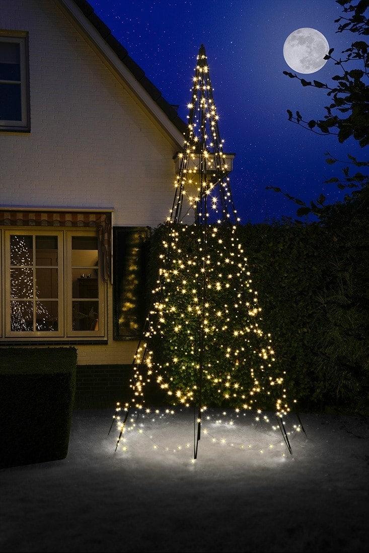 Fairy Bell Kerstboom Op Paal 4 Meter 640 Lampjes Aanbieding