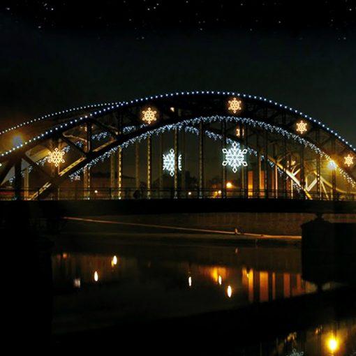 feestverlichting brug