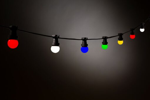 gekleurde lampen prikkabel