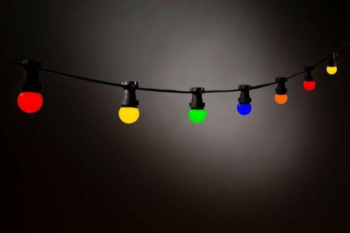 gekleurde led lampen prikkabel