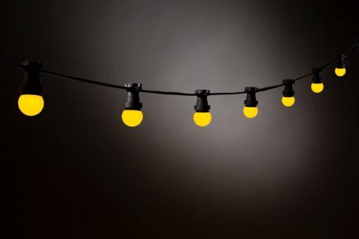 gele prikkabel led lampen