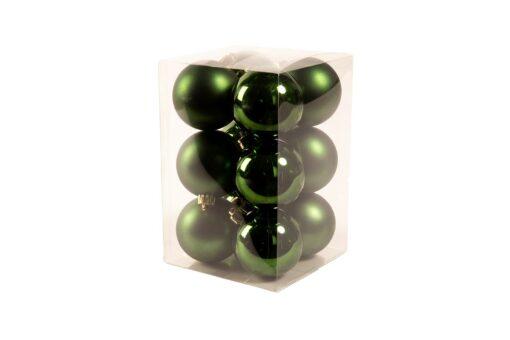 groene kerstballen