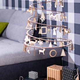 houten kerstversiering