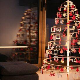 houten vilten kersthangers