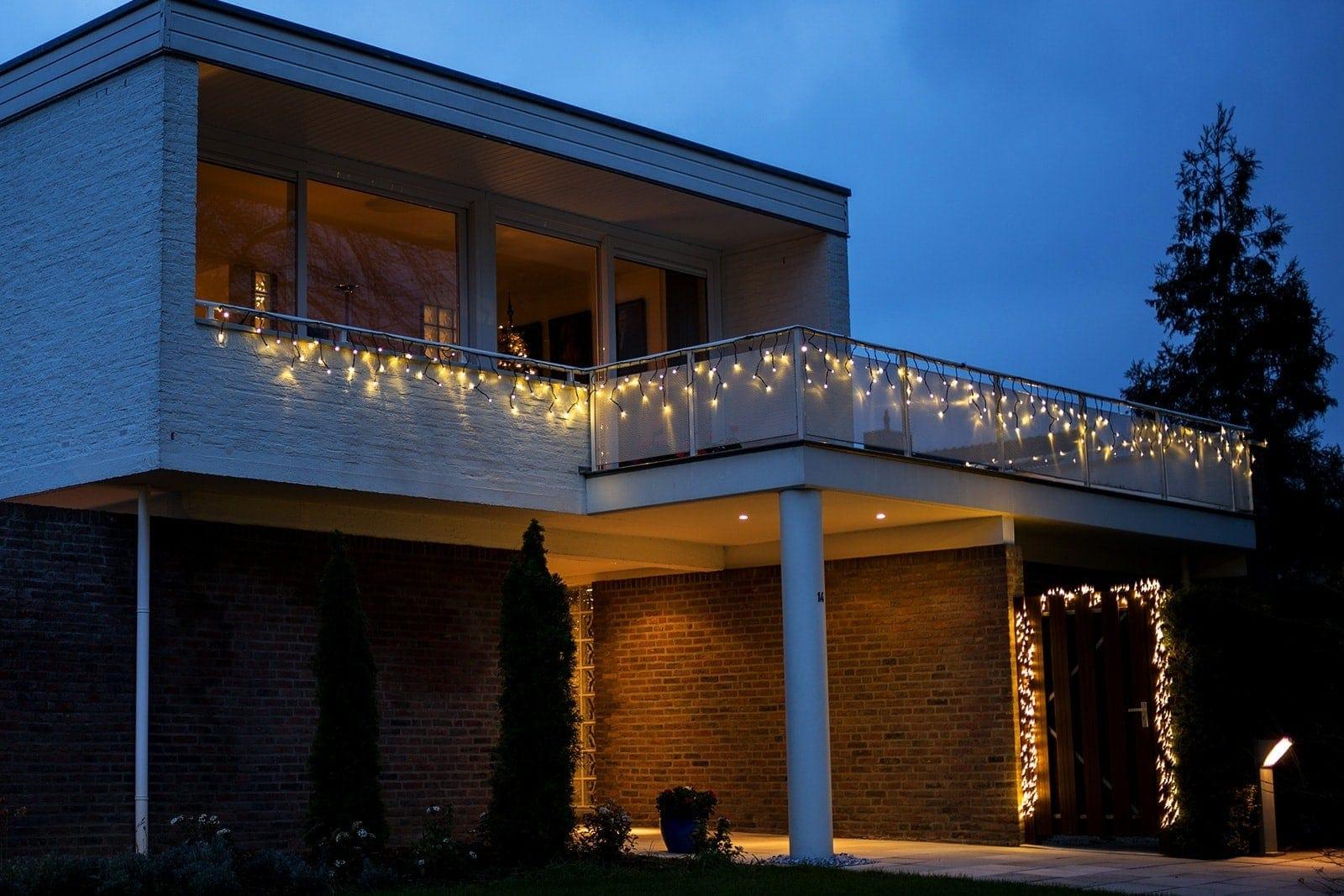 IJspegelverlichting 3m x 0,5m · Warm wit · Wit snoer · Twinkle