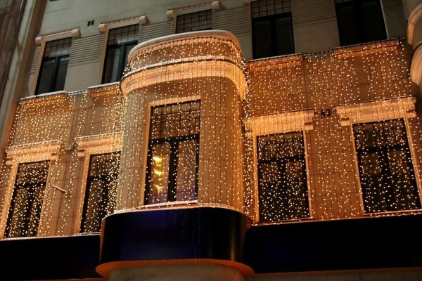 kerst lichtgordijn