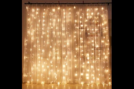 kerst lichtgordijn binnen