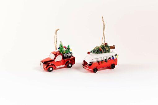 kerst ornamenten autos