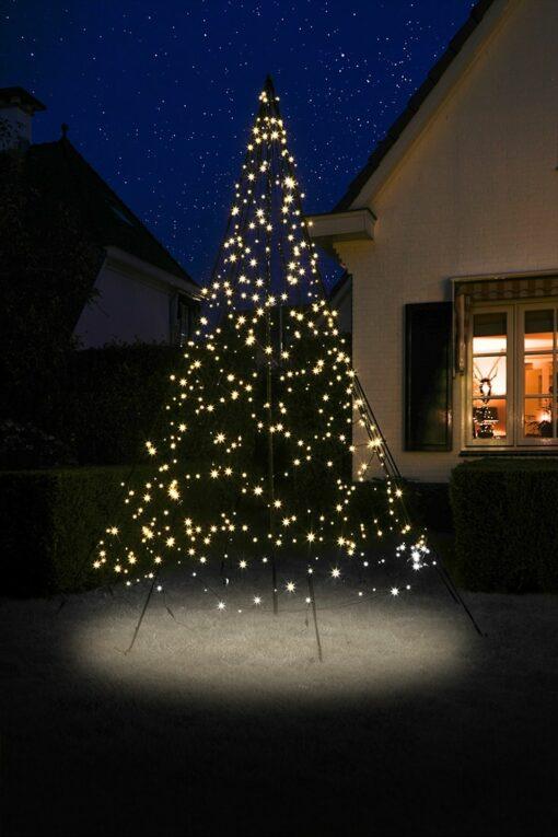 kerstboom op paal