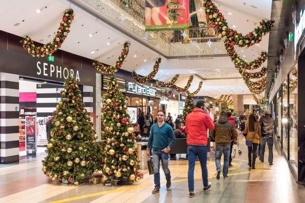 kerstboom winkelcentrum