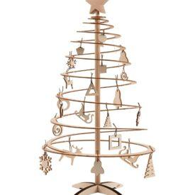 kerstboompje van hout spira mini