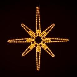 kerstster verlichting buiten