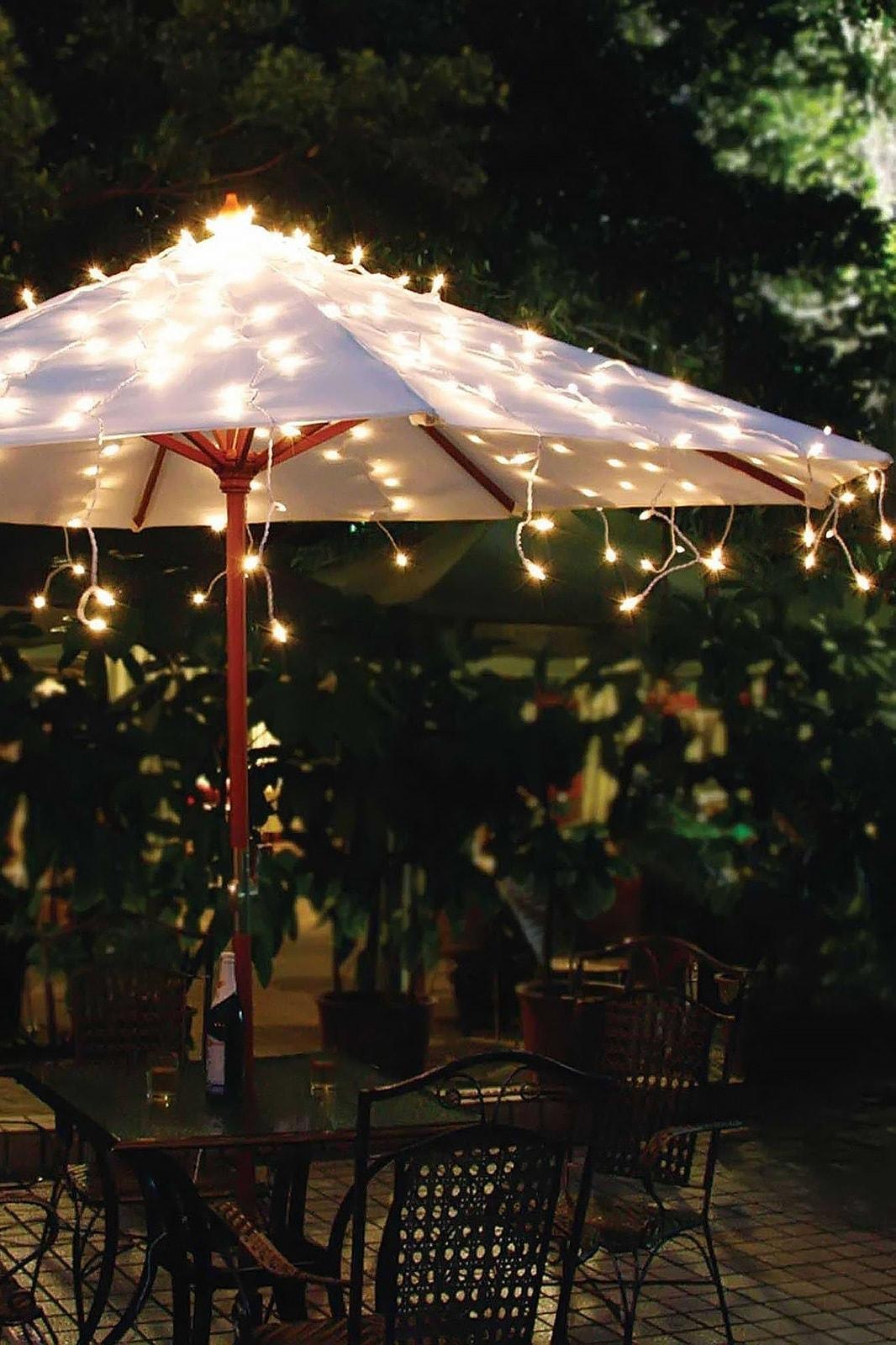 kerstverlichting parasol