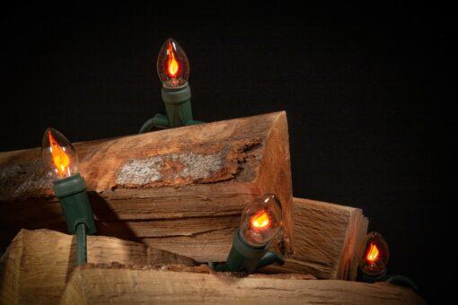 kerstverlichting vlameffect
