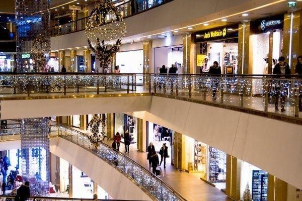 kerstversiering winkelcentrum