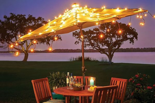 led lichtgordijn kerstverlichting parasol