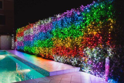 lichtgordijn gekleurd