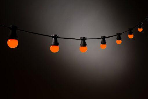 oranje prikkabel led lampen
