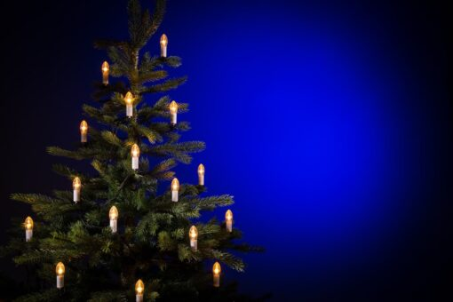 ouderwetse kerstverlichting
