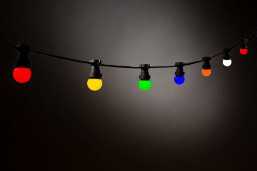 prikkabel 20 gekleurde lampen e27 feestverlichting