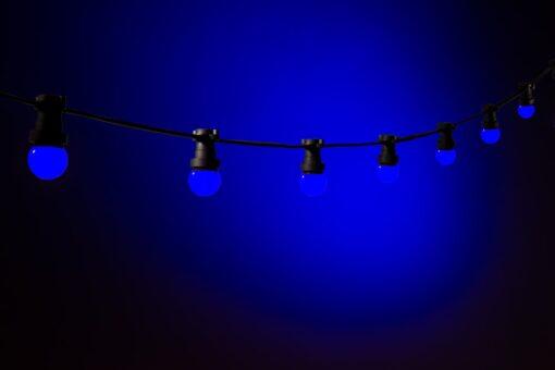 prikkabel blauw