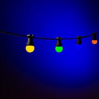 prikkabel gekleurde lampen