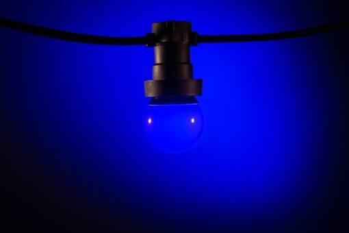 prikkabel lampen blauw