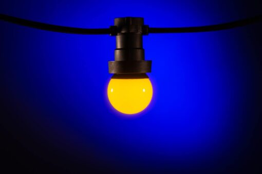prikkabel lampen geel