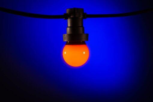 prikkabel lampen oranje