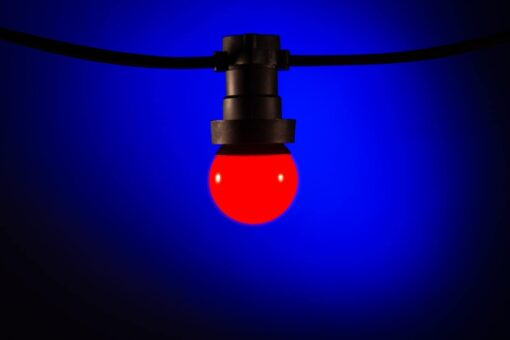 prikkabel lampen rood