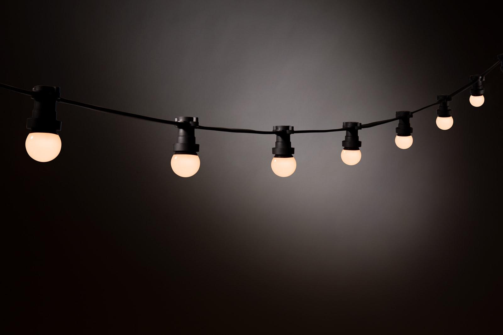 Prikkabel Led Lampen : Prikkabel led lamp u warm wit u melkwitte bol kerstverlichting