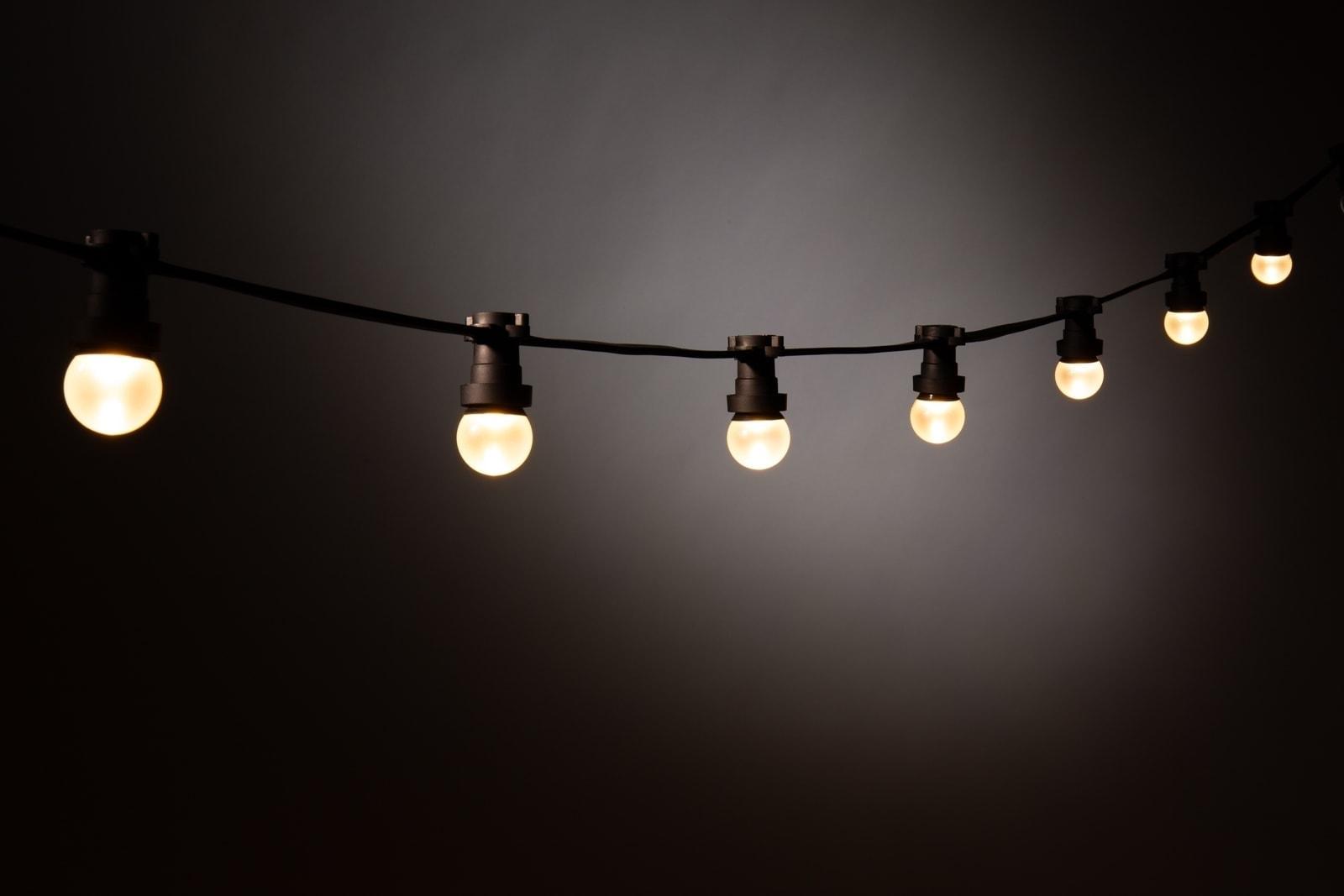 Prikkabel Led Lampen : Led prikkabel lampen warm wit u matte bol kerstverlichting buiten