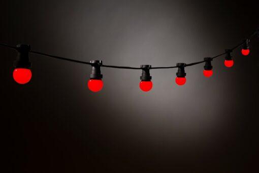 rode prikkabel led lampen