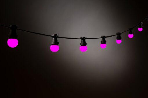 roze prikkabel led lampen
