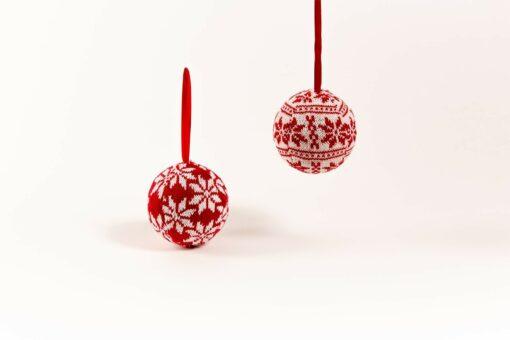 stoffen kerstballen