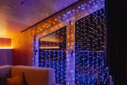 twinkly curtain