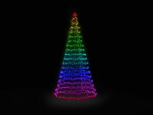 vlaggenmast kerstboom 4 meter twinkly