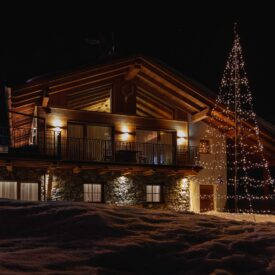 vlaggenmast kerstboom twinkly