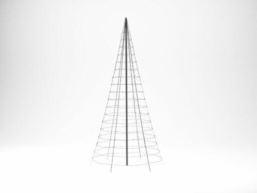 vlaggenmast kerstverlichting 4 meter twinkly