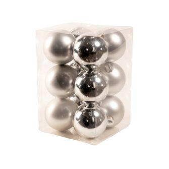 zilveren kerstballen
